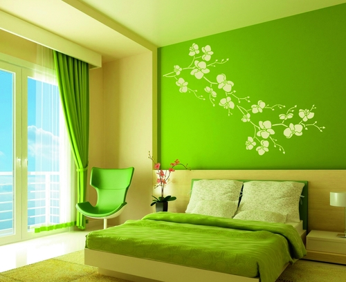 Jak zosta stylist w asnego wn trza naklejki tapety for Bedroom interior designs green